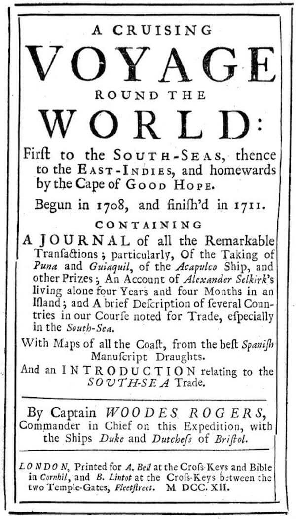A Cruising Voyage Round the World (1721)