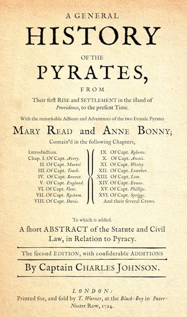 A General History of the Pyrates 2nd Edition (1724)