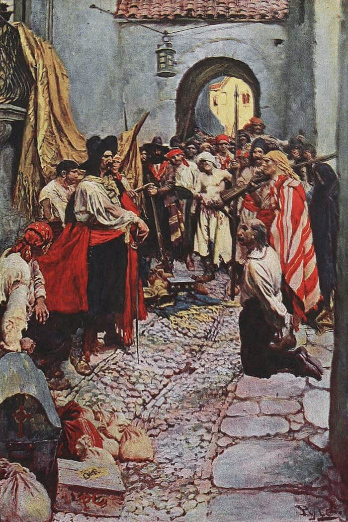 Taking a City - Howard Pyle's Book of Pirates (1921)