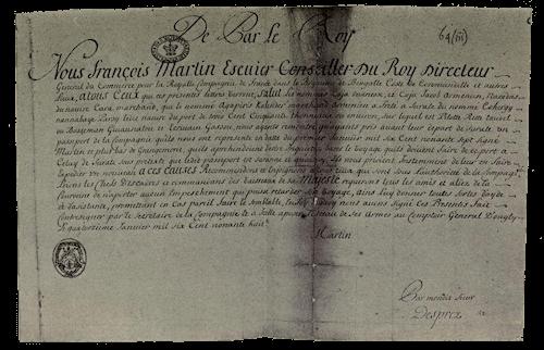 Quedah Merchant French Passes (c. 1690s)
