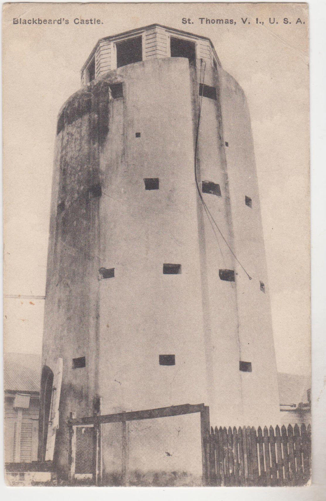 Blackbeard's Castle Postcard (1922)