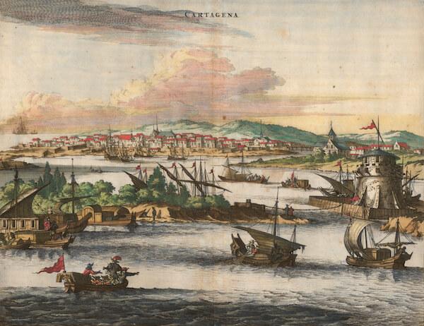 Cartagena - John Ogliby (1671)