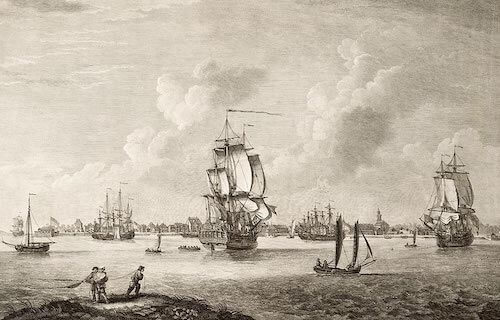 View of Charles Town - Thomas Mellish (1768)