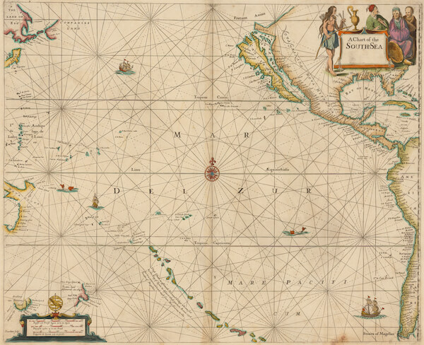 A Chart of the South Sea - John Seller (1672)