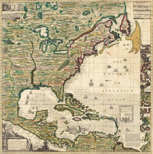 America Septentrionalis - Henry Popple (1733)