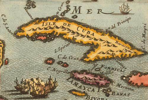 Cuba and Jamaica - Alain M. Mallet (1683)