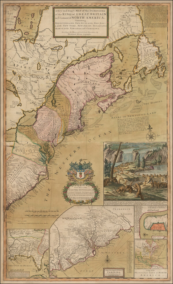 Dominions of Great Britain on North America - Herman Moll (1726)