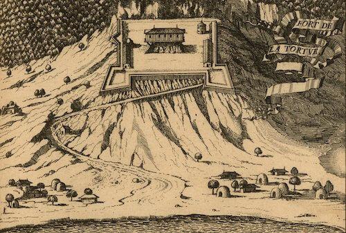 Fort de Rocher - Histoire General des Antilles vol. I (1667)
