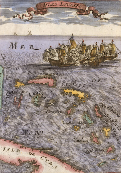 Isles Lucayes (Bahamas) - Allain M. Mallet (1686)