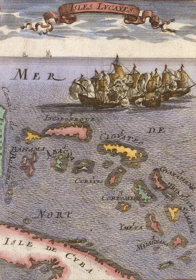 Isles Lucayes (Bahamas) - Allain M. Mallet (1686)