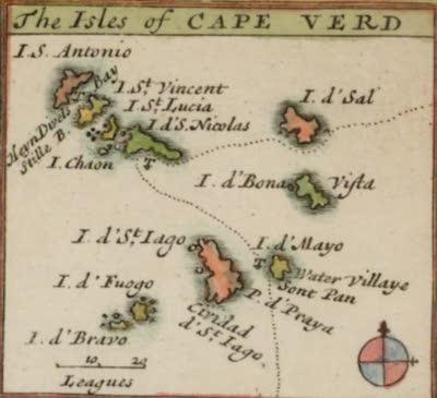 Bartholomew Roberts - Cape Verde Islands Map (1598)