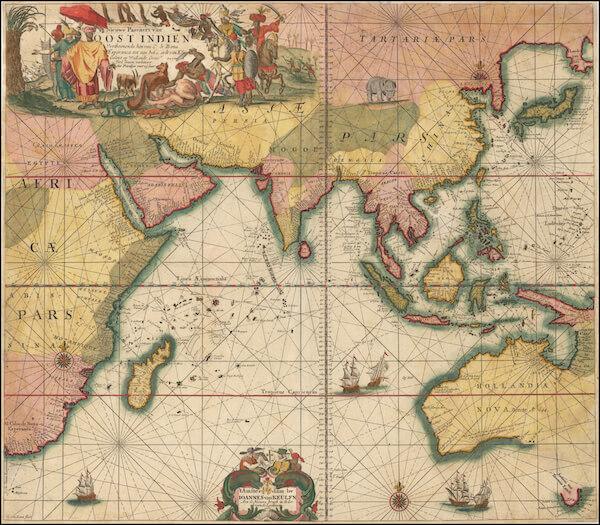 Nieuwe Pascaert van Oost Indien - Johannes Van Keulen (1680)