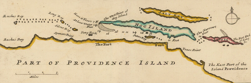 Part of Providence Island - Herman Moll (1729)