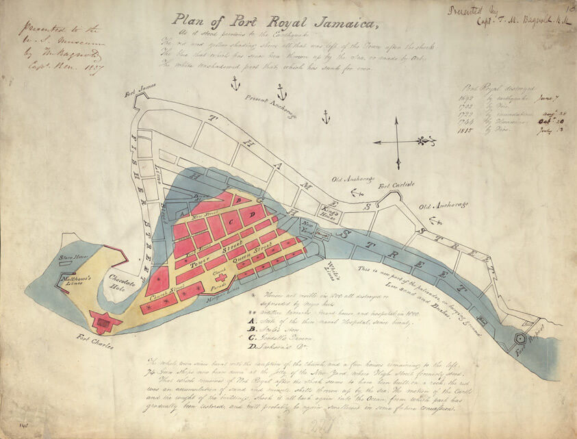 Plan of Port Royal Jamaica (1815)