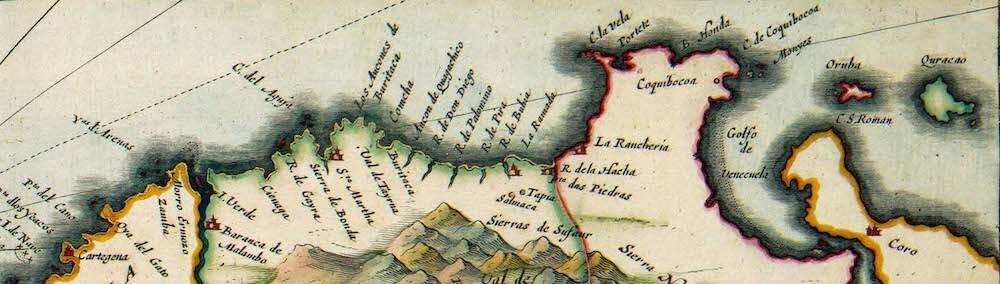 Terre Firma Coast - Atlas van der Hagen (c. 1630)