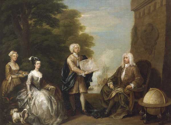 William Hogarth - Woodes Rogers and His Family (1728)