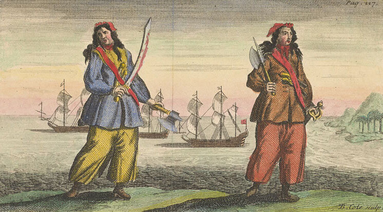 Anne Bonny and Mary Read - A General History of Pyrates (1724)