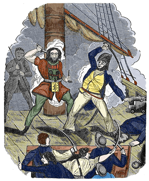 Blackbeard's Final Fight - The Pirates Own Book (1837)