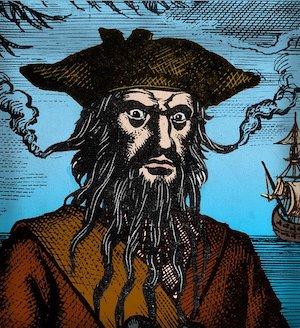 Edward 'Blackbeard' Teach - Blackbeards Flaming Beard
