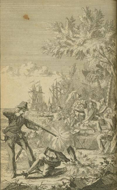 Edward Low Shoots a Man - Historie der Zee-Rovers (1725)