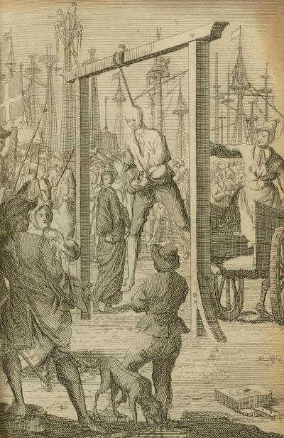 Stede Bonnet's Hanging - Historie der Zee-Roovers (1725)