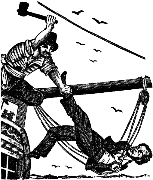 John Gow Killing the Captain - Pirates Own Book (1837)