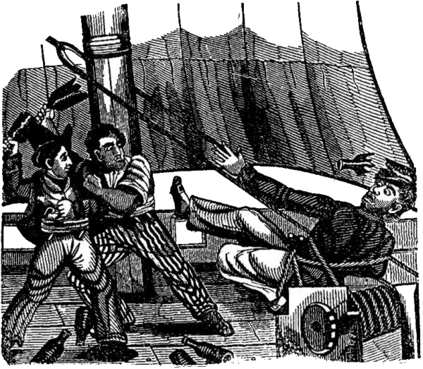 Edward England - Pirates Pelting Captain Skinner With Bottles