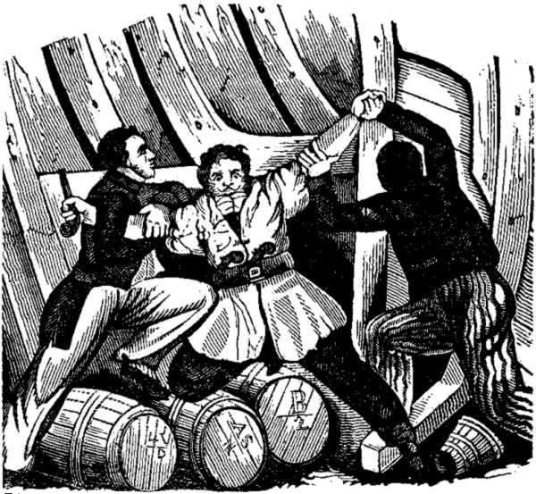 Vane Arrested by Holford - Pirates Own Book (1837)