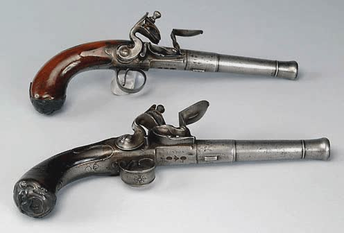 Pirates Culture - Pirate Weapons - Flintlock Pistols